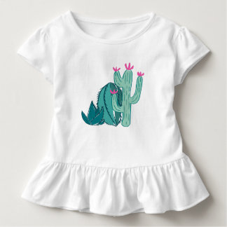 Pink and Green Cute Cactus Toddler T-Shirt