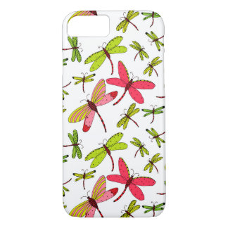Pink and Green Dragonflies iPhone 8/7 Case
