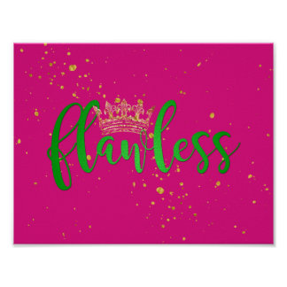 Pink and Green Flawless Poster