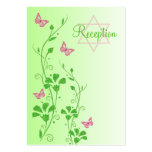 Pink and Green Floral Butterflies Enclosure Card