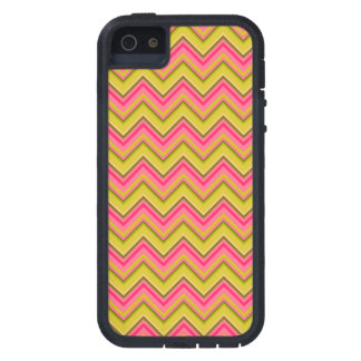 Pink and Green Garden Rose Chevron Case For The iPhone 5