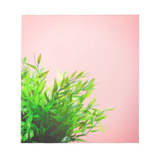Pink and Green House Plant Nature Gardening Notepad