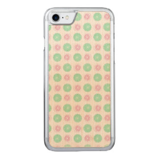 PINK AND GREEN iPhone 6/6s Slim Maple Wood Carved iPhone 8/7 Case