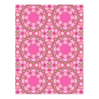Pink and Green Kaleidoscope Postcard