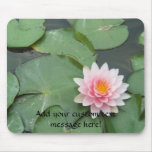 Pink and Green Lily Pad Pretty Photograph Mousepad