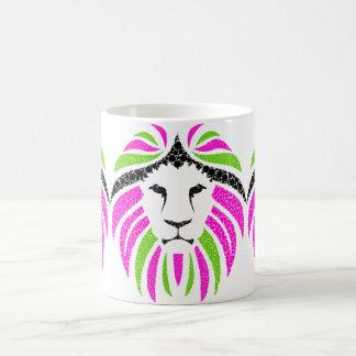 Pink and Green Lion Mug (Pretty Coffee Mug)