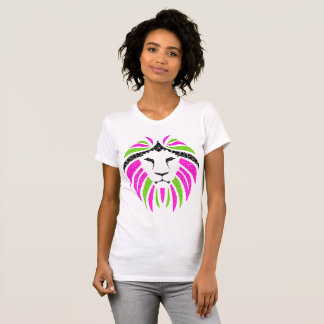 Pink and Green Lion T-shirt (Ladies Tshirt)