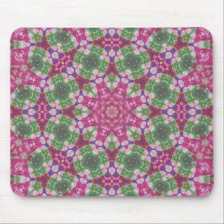 Pink And Green Mixed Media Abstract Mousepad