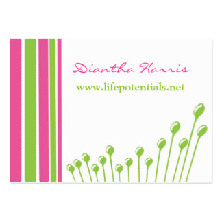 Pink and Green Modern Pack Of Chubby Business Cards