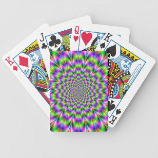 Pink and Green Neon Flower Playing Cards