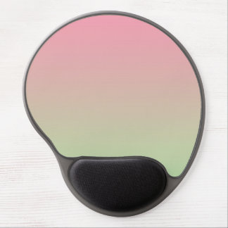 """""""Pink And Green Ombre"""" Gel Mouse Pad"""