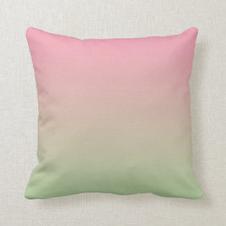 """""""Pink And Green Ombre"""" Throw Pillow"""