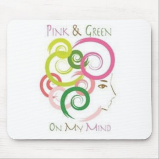 Pink and Green on My Mind Mouse Mat