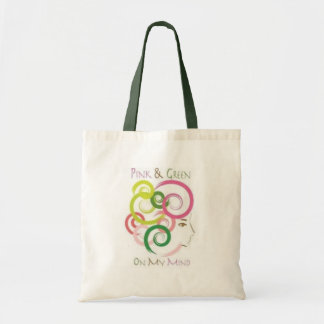 Pink and Green on My Mind Tote Bag