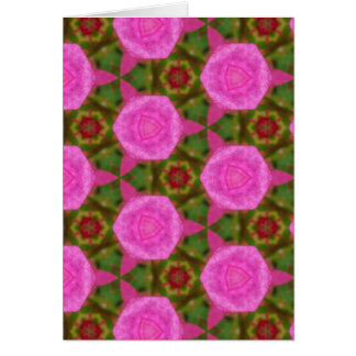 Pink and Green Patterns and Shapes Greeting Card