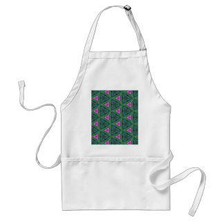 Pink and Green Patterns and Shapes Standard Apron