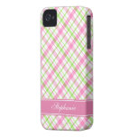 Pink and Green Plaid Pattern