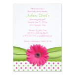 Pink and Green Polka Dots Baby Shower Invitation 13 Cm X 18 Cm Invitation Card