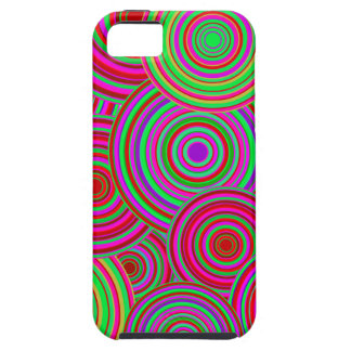 Pink and Green Retro Circles Pattern iPhone 5 Cover