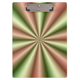 Pink and Green Ribbed Pleat Clipboard