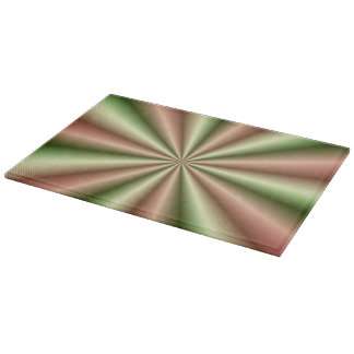 Pink and Green Ribbed Pleat Cutting Board