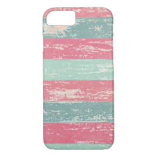 Pink and Green Rustic Wooden Fence Grunge Texture iPhone 7 Case