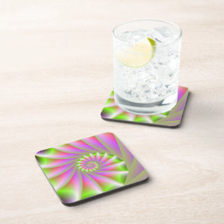 Pink and Green Spiral Coasters
