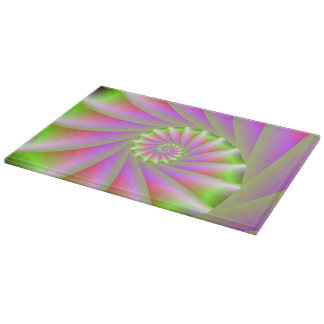 Pink and Green Spiral Cutting Board
