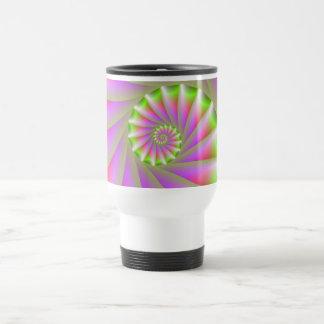 Pink and Green Spiral Mug