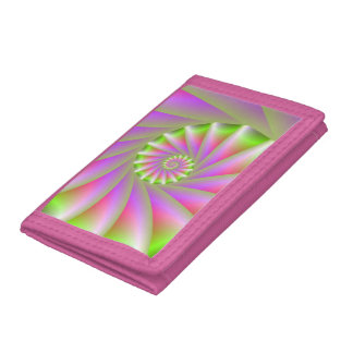 Pink and Green Spiral Wallet