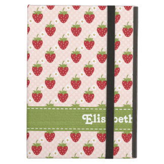 Pink and Green Strawberry iPad Air Cover