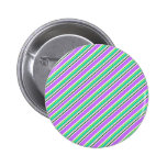 Pink and Green Stripes Buttons