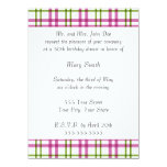 Pink and Green Tartan 5.5x7.5 Paper Invitation Card