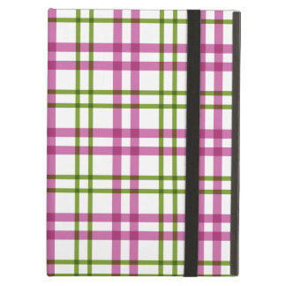 Pink and Green Tartan Pattern Case For iPad Air