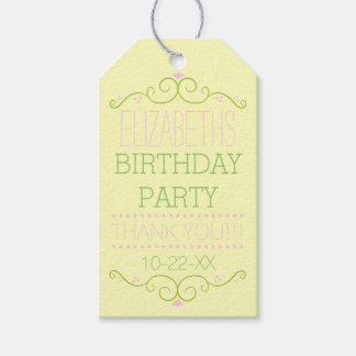 Pink and Green Typography- Birthday Party