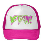 Pink and Green Vegan Trucker Hat