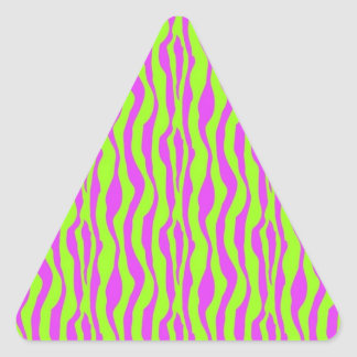 Pink and Green Zebra Print Stickers