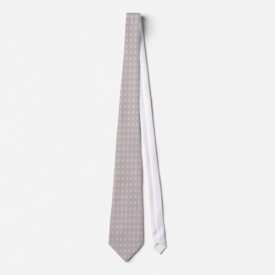 Pink and Grey Argyle Custom Tie