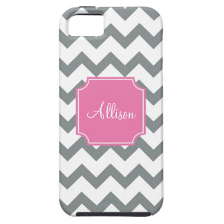 Pink and Grey Chevron iPhone 5 Cover