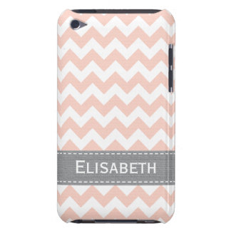 Pink and Grey Chevron iPod Touch 4g Case Cover