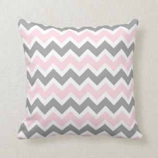 Pink and Grey Chevron modern decor sofa pillow
