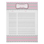 Pink and Grey Chevron Shower Gift List