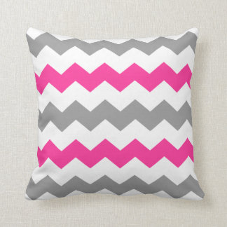 Pink and Grey Chevron Throw Pillow Throw Cushions