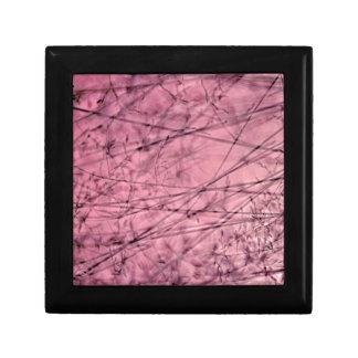 Pink and Grey Grass Plantscape Trinket Box