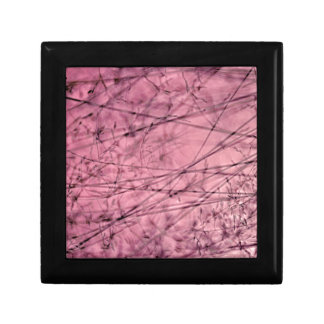 Pink and Grey Grass Plantscape Small Square Gift Box