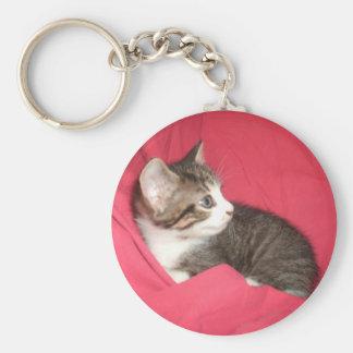 Pink and Grey Key Ring