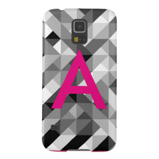 Pink and Grey Monogrammed Phone Case Galaxy S5 Cases