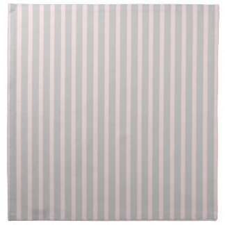 Pink and Grey Stripes Napkin