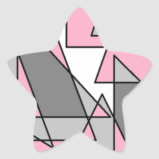 pink and grey triangles.jpg star sticker