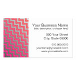 Pink and Grey Wavy Zigzag Pattern Business Card